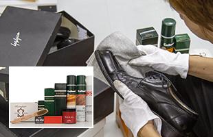 様々な専門道具で靴などの革製品も生まれ変わります。提携工房にソールの張替えなども依頼しております。