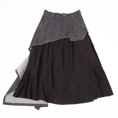 Y's デニムレイヤードデザインスカート