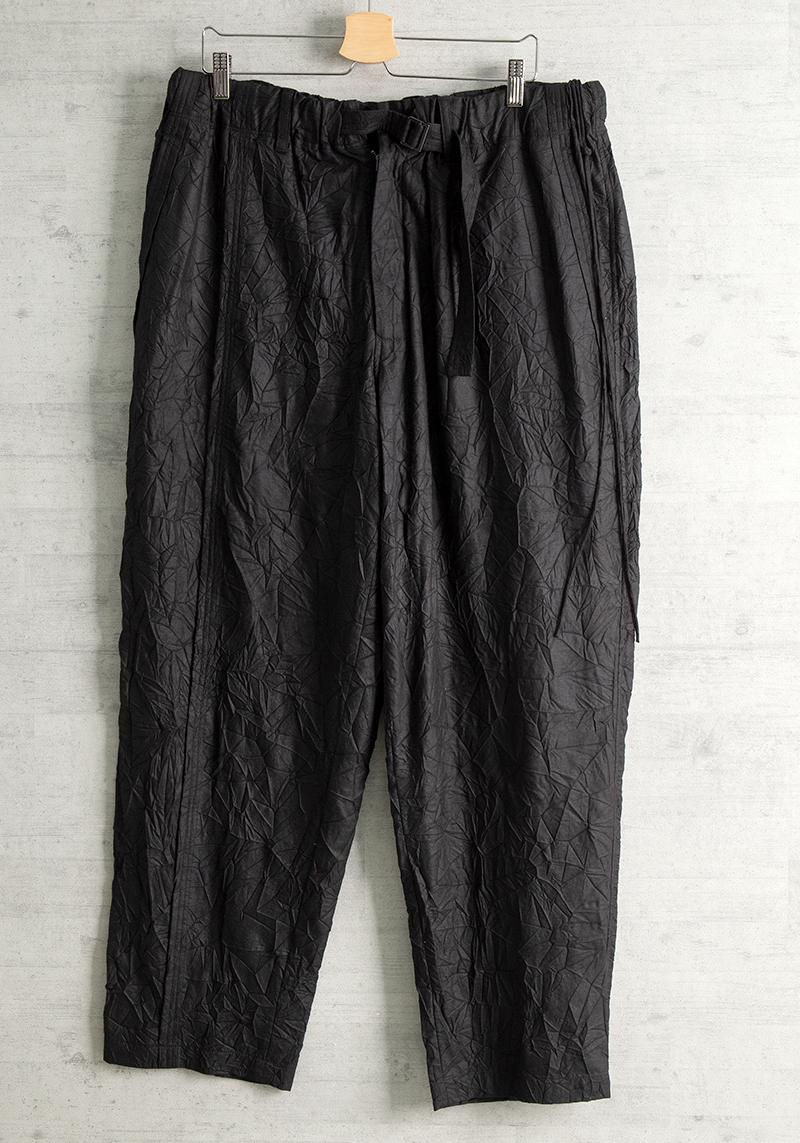 Yohji Yamamoto POUR HOMMEポリウールワッシャー加工パンツ