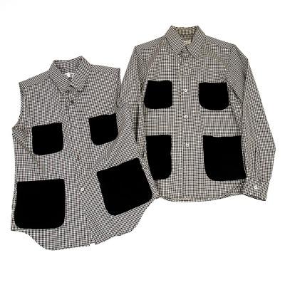robe de chambre COMME des GARCONS ベロアポケットギンガムチェックシャツ