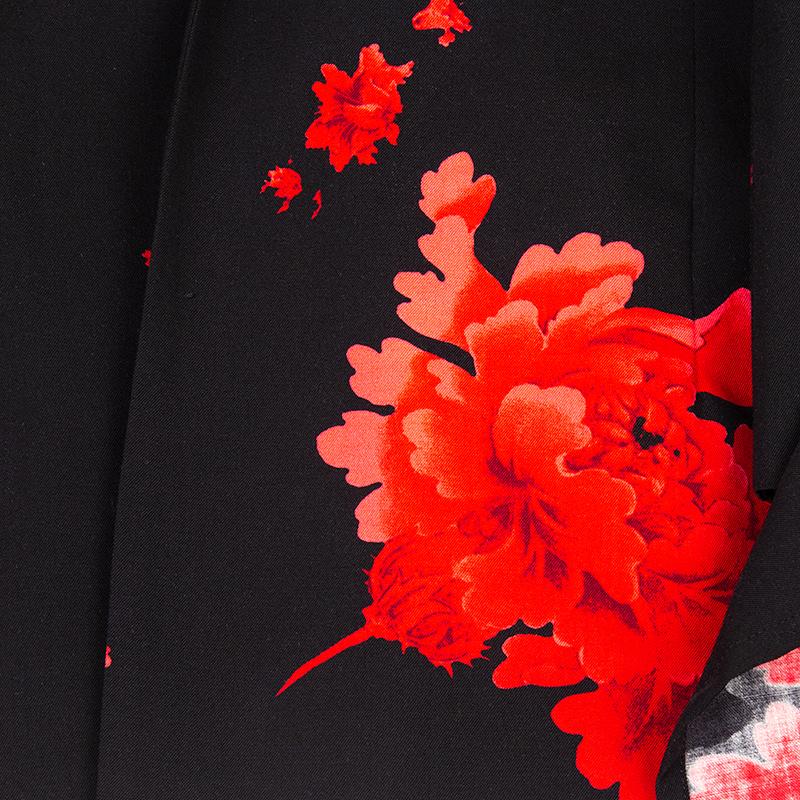 Yohji Yamamoto FEMME ウールギャバ牡丹プリントセットアップスーツ