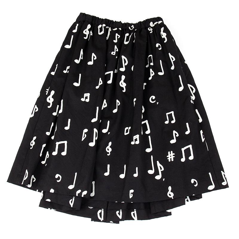 BLACK COMME des GARCONS 音符総柄スカート