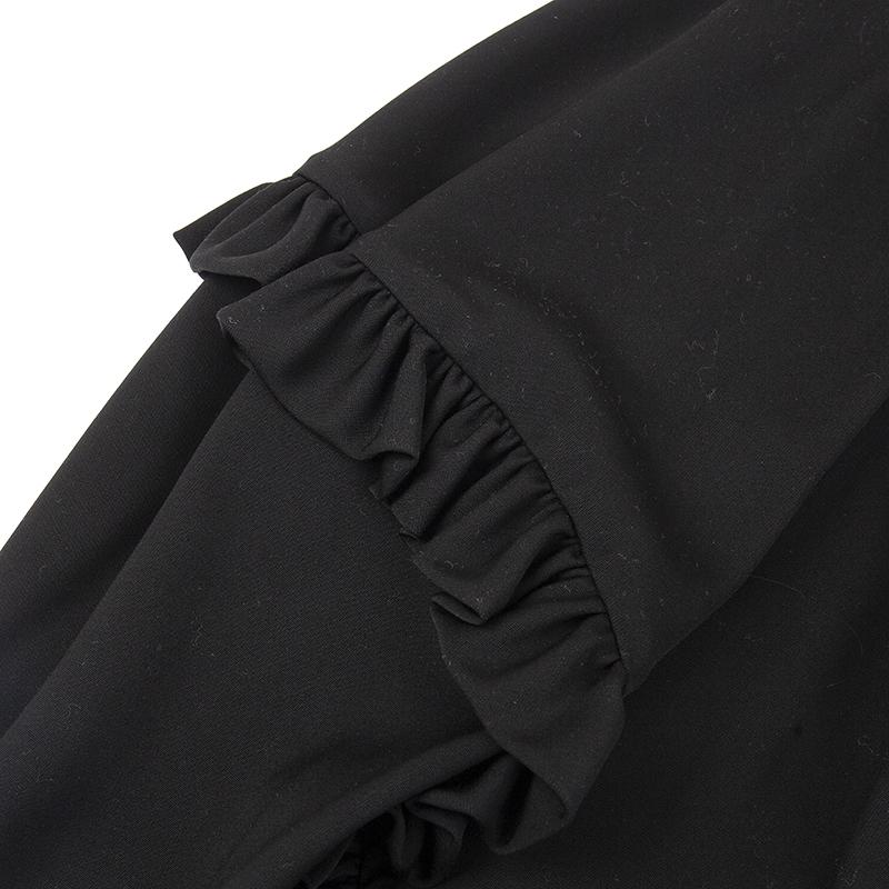 COMME des GARCONS / ウールサイドフリルデザインフレアスカート