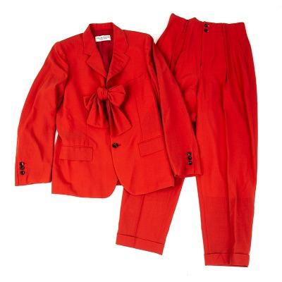 robe de chambre COMME des GARCONS サマーウールリボン装飾セットアップスーツ