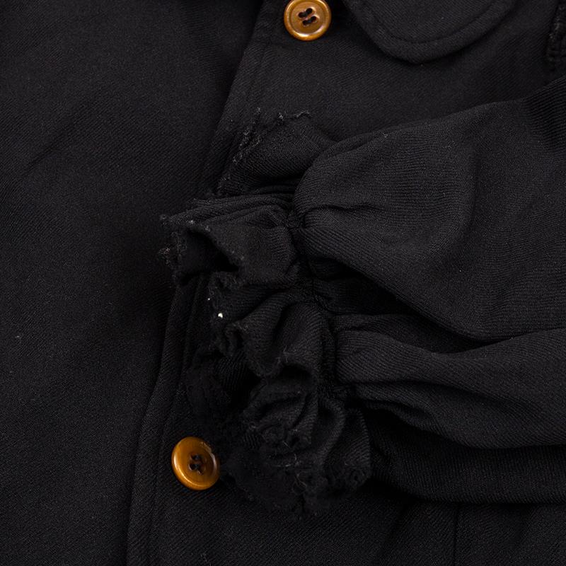 COMME des GARCONS エステルバルーンスリーブラウンドカラージャケット