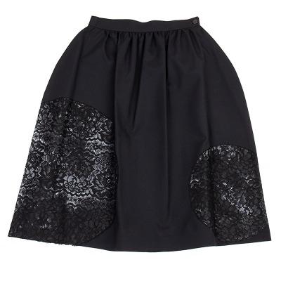JUNYA WATANABE COMME des GARCONS サークル花柄刺繍裁ち切りバルーンスカート