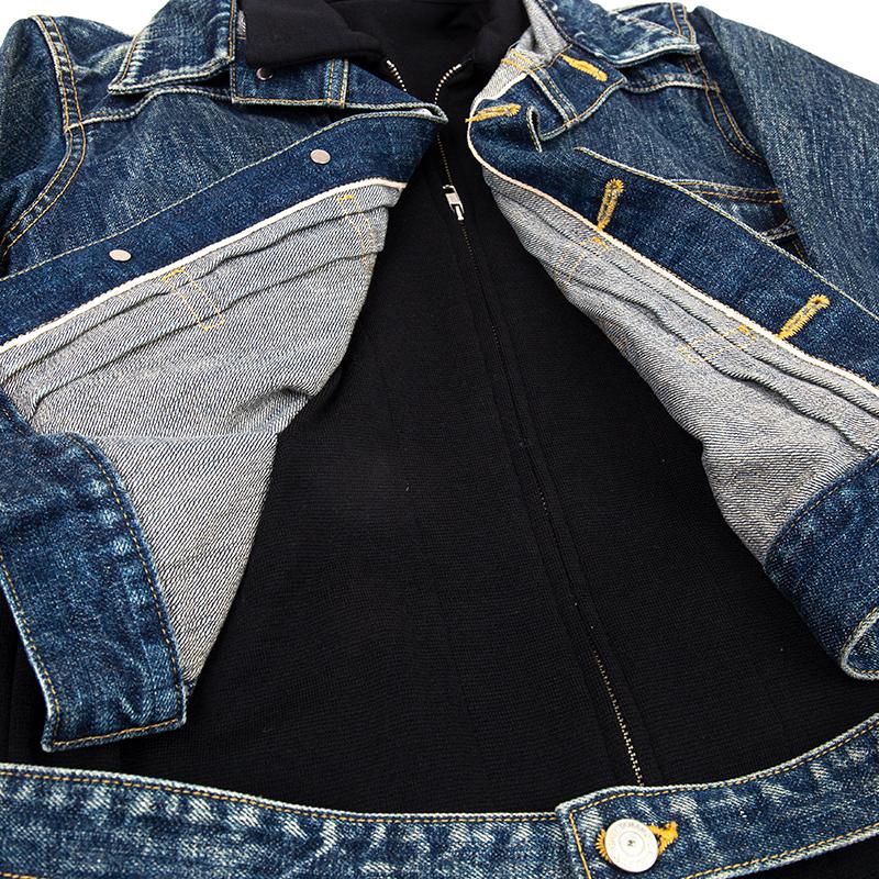 Yohji Yamamoto FEMME ニットドッキングスポテッドホースデニムジャケット