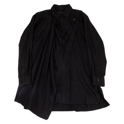 Y's コットンハーフラップデザインロングシャツ